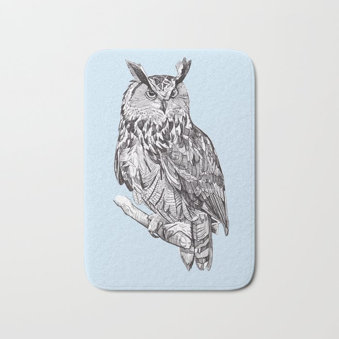 Eagle Owl Bath Mat