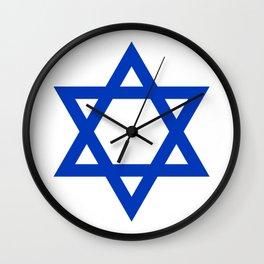 Blue Hexagram Wall Clock