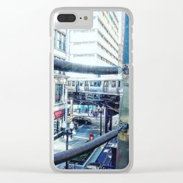 """""""Chicago Void through a Window"""" Clear iPhone Case"""
