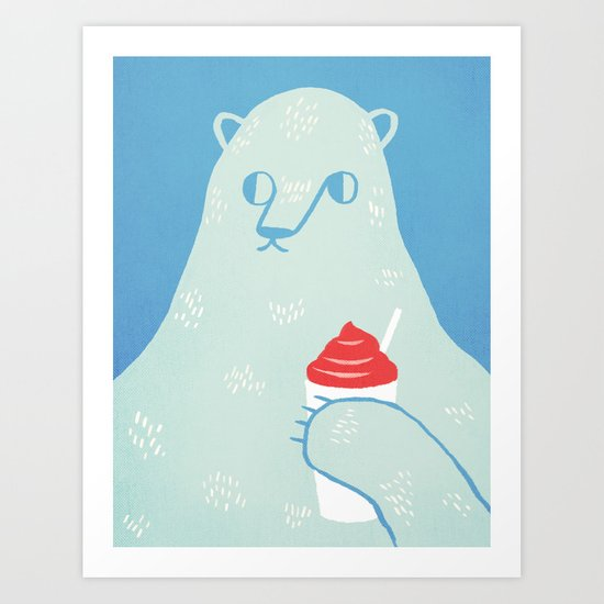 Polar Beverage Art Print