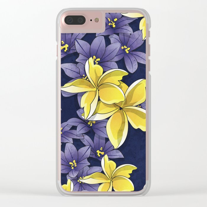 Complementary flowers Clear iPhone Case