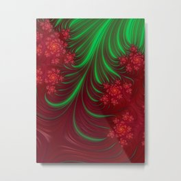 Christmas Flow - Fractal Art Metal Print