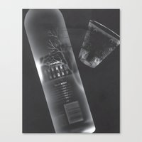 vodka Canvas Prints featuring Vodka Visions by Andrea Jean Clausen - andreajeanco