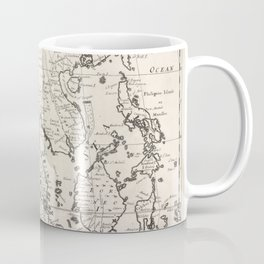 A new map o East Indies, taken from Mr. de Fer's Map of Asia, shewing their chief divisions, cities, towns, ports, rivers, mountains &c.Additional Eas Coffee Mug