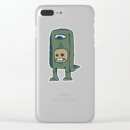 Headless, but not faceless Clear iPhone Case