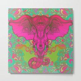 Pink Ganesha Metal Print