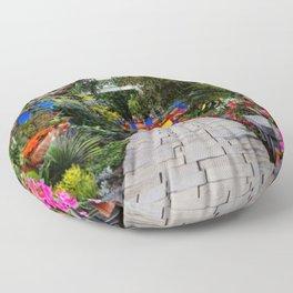 Frida Kahlo's Garden Floor Pillow