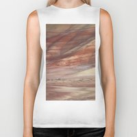 minerals Biker Tanks featuring Hills Painted by Earth Minerals by Leland D Howard