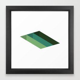 #125 Shafts – Geometry Daily Framed Art Print