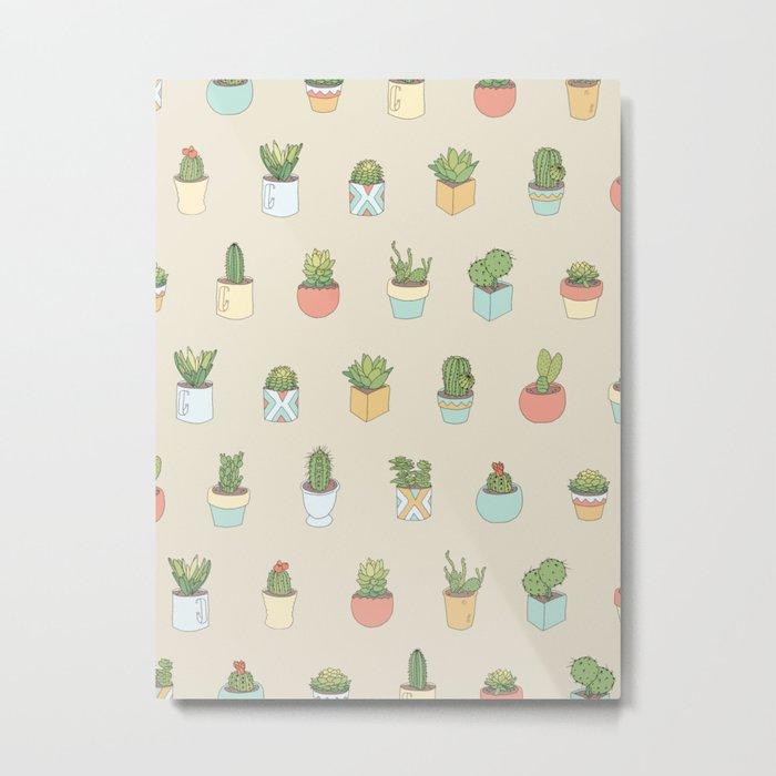 Cute Succulents Metal Print