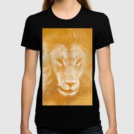 Lion On Gold Metal T-shirt