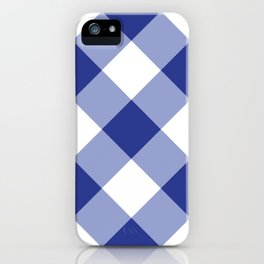 Gingham - Navy iPhone Case