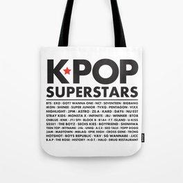 KPOP Superstars Original Boy Groups Merchandse Tote Bag