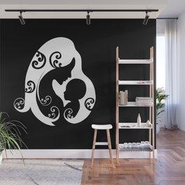 Mother,baby love,minimal illustration  Wall Mural
