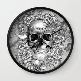 Natural Death BW Wall Clock
