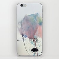 cyclops iPhone & iPod Skins featuring Cyclops by GretchenAnn