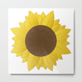 Midwest Sunflower Metal Print