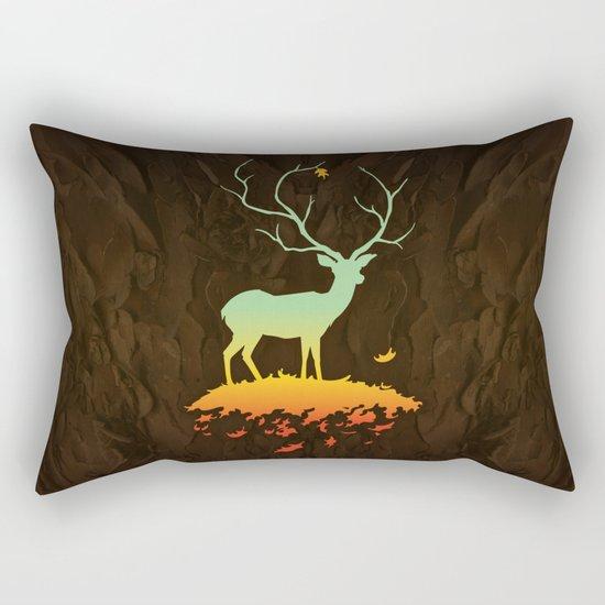 Fawn and Flora Rectangular Pillow