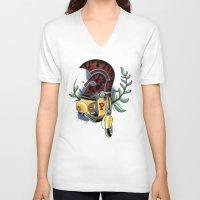 vespa V-neck T-shirts featuring Vespa by Mirek Kopinec
