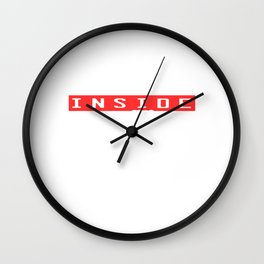 """A Nice Inside Theme Tee For You Who Loves Being Inside """"The Ghost Inside Full Speed Ahead"""" T-shirt Wall Clock"""