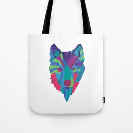 Neon Wolf Tote Bag