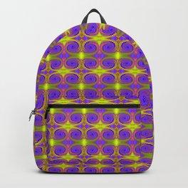 Bright Purple Yellow Swirl Pattern Backpack