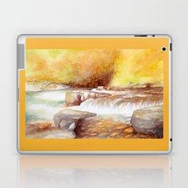 East Lyn river waterfall Laptop & iPad Skin