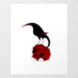 Bird and Skull Art Print