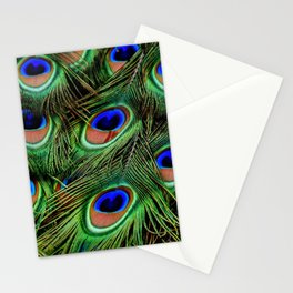 Peacock feathers | Plumes de Paon Stationery Cards