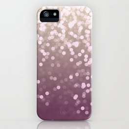 PLUM PURPLE AND GOLD CHAMPAGNE GLITTER LIGHTS iPhone Case