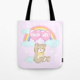 F*ck Off Teddy Bear Tote Bag