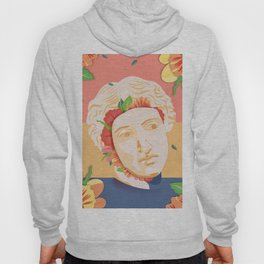 Abstract greek head with flower patterns Hoody