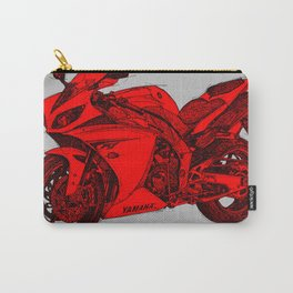 red bike, grey background Carry-All Pouch