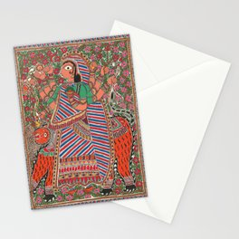 DurgaMadhubani art or Mithila painting was traditionally created by the women of various communities Stationery Cards