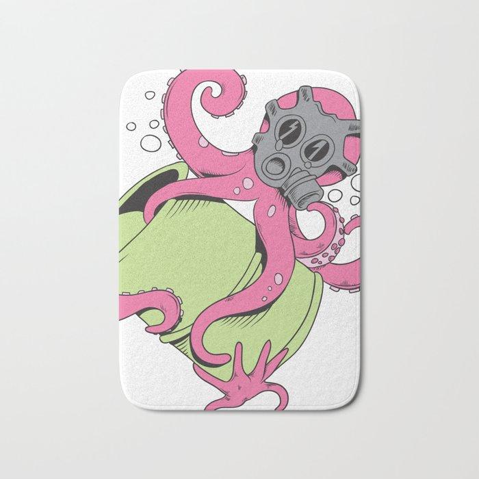 Radioactive Octopus Bath Mat