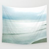 silent Wall Tapestries featuring Silent Sea by Bella Blue Photography