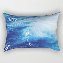 Blue Ocean Water Waves Rectangular Pillow