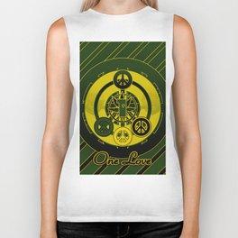 One Love (Green) Biker Tank