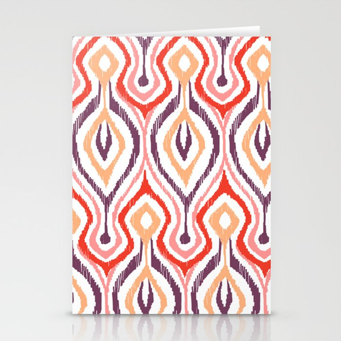 Sketchy Ikat - Nebula Stationery Cards