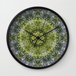 Light Shining Through a Tree Fractal Wall Clock