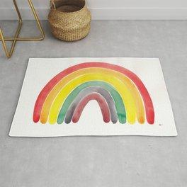 Watercolour rainbow Rug