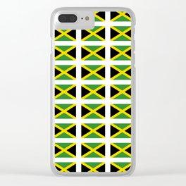 Flag of Jamaica 2-Jamaican,Bob Marley,Reggae,rastafari,cannabis,ganja,america,south america,ragga Clear iPhone Case
