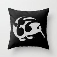 kiwi Throw Pillows featuring Kiwi by mailboxdisco