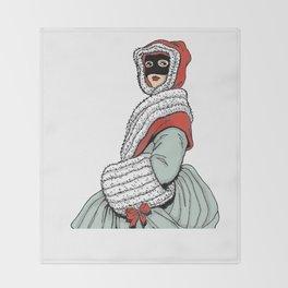 Masked Girl Throw Blanket