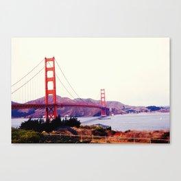 San Francisco Golden Gate Bridge in the 1960s Canvas Print
