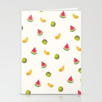 fruits Stationery Cards featuring Fruits by Carolin Vogt