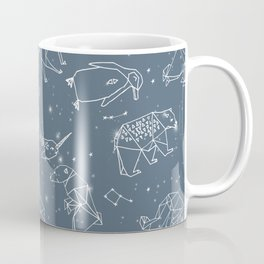 Origami Constellations - geometric animals constellations design - blue Coffee Mug