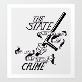 State Crime Art Print