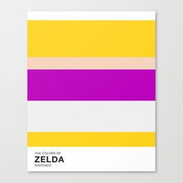 The Colors of Zelda Canvas Print