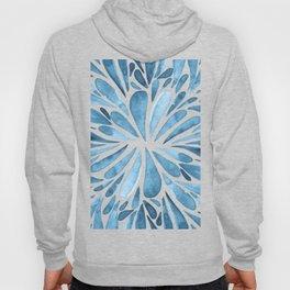 Symmetrical drops - blue Hoody